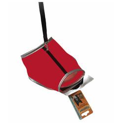 Diğer / Other - Flipper Fileli Kedi Göğüs Tasması + Uzatma Kayışı Seti Kırmızı