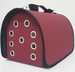 Diğer / Other - Flybag Kedi ve Küçük Irk Köpek Taşıma Çantası Bordo 25x30x40 Cm