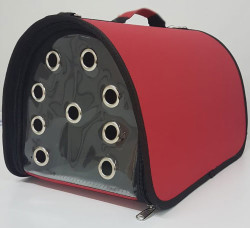 Diğer / Other - Flybag Kedi ve Küçük Irk Köpek Taşıma Çantası Kırmızı 25x30x40 Cm
