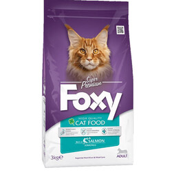 Foxy - Foxy 30/15 Somonlu Yetişkin Kedi Maması 3 Kg