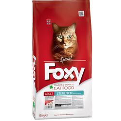 Foxy - Foxy 32/10 Sterilised Tavuk Etli Kısırlaştırılmış Kedi Maması 15 Kg