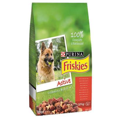 Friskies Active Kırmızı Etli Yetişkin Köpek Maması 10 Kg+5 Adet Temizlik Mendili