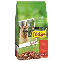 Friskies - Friskies Active Kırmızı Etli Yetişkin Köpek Maması 10 Kg+5 Adet Temizlik Mendili