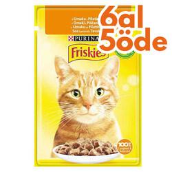 Friskies - Friskies Chicken Tavuk Etli Sos İçerisinde Yaş Kedi Maması 85 Gr - 6 Al 5 Öde