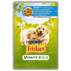 Friskies - Friskies Junior Tavuklu ve Havuçlu Yavru Köpek Yaş Maması 100 Gr