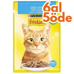 Friskies - Friskies Salmon Somonlu Sos İçerisinde Yaş Kedi Maması 85 Gr - 6 Al 5 Öde