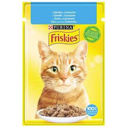 Friskies - Friskies Salmon Somonlu Sos İçerisinde Yaş Kedi Maması 85 Gr