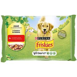 Friskies - Friskies Sığır Etli ve Havuçlu Köpek Yaş Maması 100 Gr - 4 Al 3 Öde