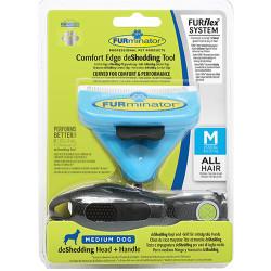 FURminator - FURminator 691587 Uzun ve Kısa Tüylü Köpek Tarağı - Medium