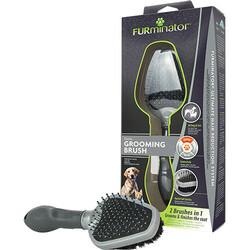 FURminator 691663 Dual Brush Çift Yüz Köpek Tarağı - Thumbnail