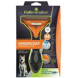 FURminator - FURminator 691665 Short Hair Kısa Tüylü Köpek Tarağı - Medium
