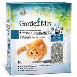 Garden Mix - Garden Mix Activated Carbon Parfümsüz Topaklanan Doğal Kedi Kumu 6 Lt