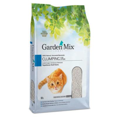 Garden Mix İnce Taneli Topaklaşan Kokusuz Doğal Kedi Kumu 10 Lt