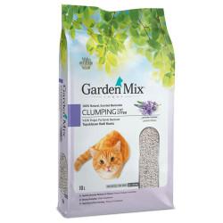 Garden Mix - Garden Mix İnce Taneli Topaklaşan Lavantalı Doğal Kedi Kumu 10 Lt