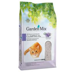 Garden Mix - Garden Mix İnce Taneli Topaklaşan Lavantalı Doğal Kedi Kumu 5 Lt