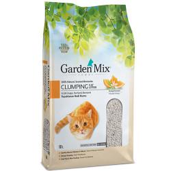 Garden Mix - Garden Mix İnce Taneli Topaklaşan Portakallı Doğal Kedi Kumu 10 Lt
