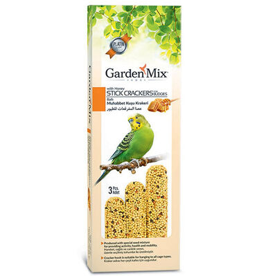 Garden Mix Platin Ballı Muhabbet Kuşu Krakeri - 3'lü Paket
