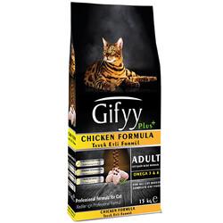 Gifyy - Gifyy Plus Chicken Tavuk Etli Yetişkin Kedi Maması 15 Kg