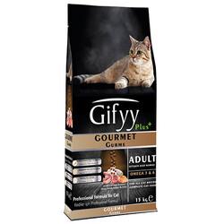 Gifyy - Gifyy Plus Gourmet Kuzu ve Somonlu Yetişkin Kedi Maması 15 Kg