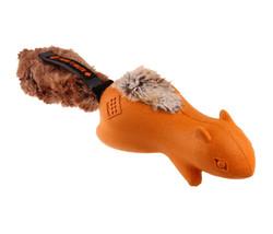 Gigwi - Gigwi 6449 Push To Mute Forestails Peluş Kuruklu Sincap Sesli ve Sesi Kapatılabilen Köpek Oyuncağı