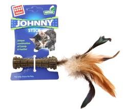 Gigwi - Gigwi 7069 Johnny Stick Catnip Tek Tarafı Doğal Tüylü Catnip Çubuğu 8 Cm