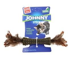 Gigwi - Gigwi 7070 Johnny Stick Catnip Çift Tarafı Doğal Tüylü Catnip Çubuğu 8 Cm