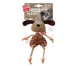 Gigwi - Gigwi 7268 Catch Scratch Eco Line Ahşap Gövdeli Catnipli Peluş Köpek Kedi Oyuncağı