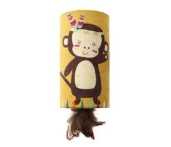 Gigwi - Gigwi 7223 Happy Indian Melody Maymun Sesli Gizli Doğal Tüylü Oyuncaklı Kedi Oyun Silindiri