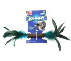 Gigwi - Gigwi 7068 Johnny Stick Catnip Çift Tarafı Doğal Tüylü Catnip Çubuğu 8 Cm