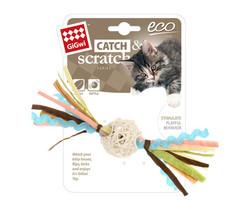Gigwi - Gigwi 7277 Catch Scratch Eco Line Ahşap Toplu Catnipli Püsküllü Çıngıraklı Kedi Oyuncağı