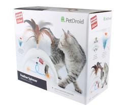 Gigwi - Gigwi 7002 Pet Droid Feather Spinner Hareket Sensörlü Tüylü ve Kuyruklu Elektronik Kedi Oyuncağı