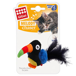 Gigwi - Gigwi 7381 Melody Chaser Peluş Toucan Papağan Sesli Kedi Oyuncağı