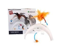Gigwi 7002 Pet Droid Feather Spinner Hareket Sensörlü Tüylü ve Kuyruklu Elektronik Kedi Oyuncağı - Thumbnail