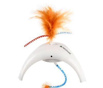 Gigwi 7002 Pet Droid Feather Spinner Hareket Sensörlü Tüylü ve Kuyruklu Elektronik Kedi Oyuncağı