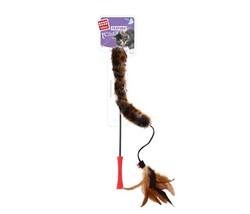 Gigwi - Gigwi 7014 Feather Teaser Doğal Tüylü Kuyruklu Peluş Kedi Oltası 53 Cm
