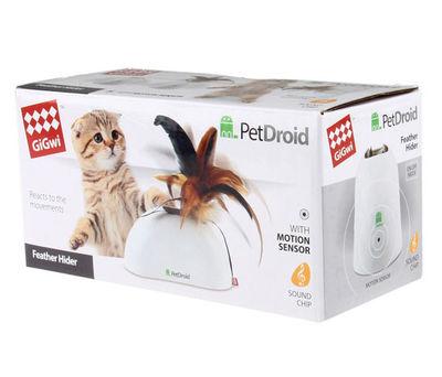 Gigwi 7022 Pet Droid Feather Hider Hareket Sensörlü Tüylü Sesli Elektronik Kedi Oyuncağı