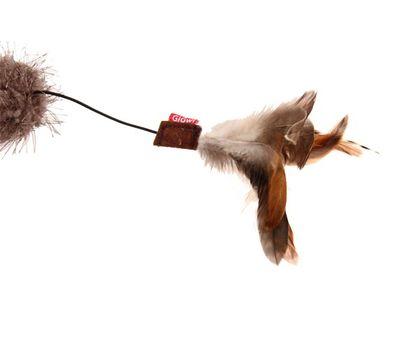 Gigwi 7072 Feather Teaser Doğal Tüylü Kuyruklu Peluş Toplu Kedi Oltası 53 Cm