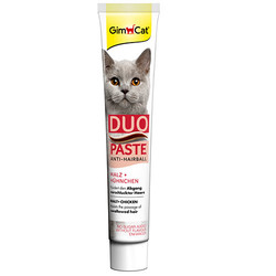 GimCat - GimCat Anti-Hairball Duo Paste Tavuklu Malt Kedi Macunu 50 Gr