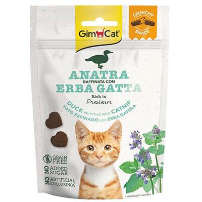 GimCat Crunchy Snacks Ördek ve Kedi Otlu Tahılsız Kedi Ödülü 50 Gr