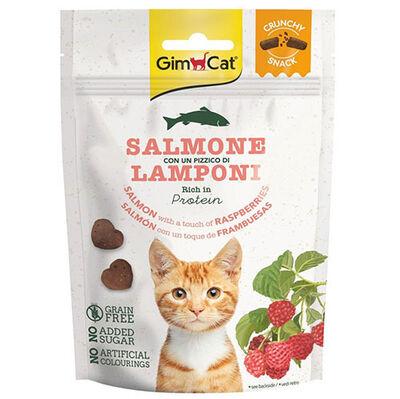 GimCat Crunchy Snacks Somon ve Ahududu Tahılsız Kedi Ödülü 50 Gr