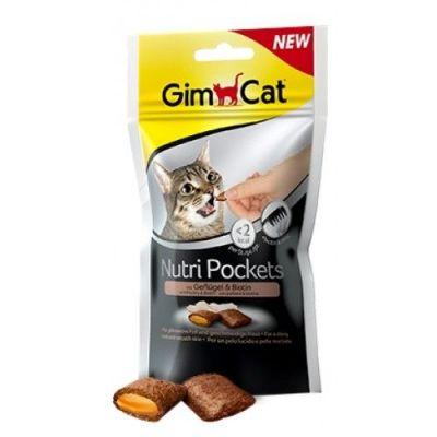 Gimcat Nutripockets Kümes Hayvanı ve Biotin Kedi Ödülü 60 Gr