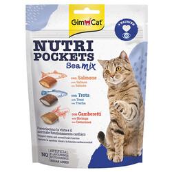 GimCat - Gimcat Nutripockets Seamix Taurine Kedi Ödülü 150 Gr