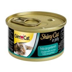 GimCat - Gimcat ShinyCat Tavuk & Karides Jöleli Konserve Kedi Maması 70 Gr