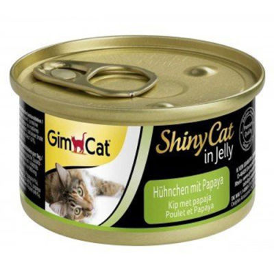 GimCat ShinyCat Tavuk Etli ve Papaya Jöleli Kedi Konservesi 70 Gr