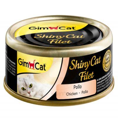 GimCat ShinyCat Tavuk Kıyılmış Fileto Kedi Konservesi 70 Gr