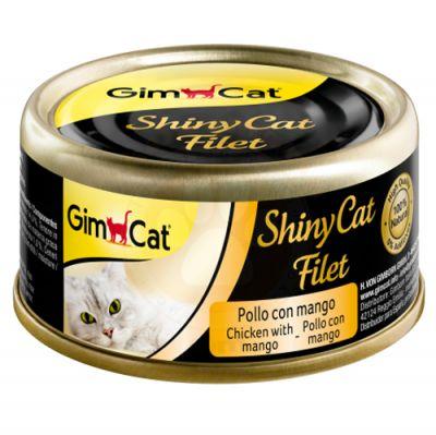 GimCat ShinyCat Tavuk ve Mango Kıyılmış Fileto Kedi Konservesi 70 Gr