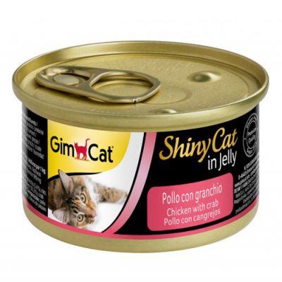 GimCat ShinyCat Tavuklu & Yengeçli Jöleli Konserve Kedi Maması 70 Gr
