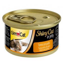 GimCat - GimCat ShinyCat Ton Balığı & Tavuklu Jöleli Kedi Konservesi 70 Gr