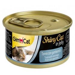 GimCat - GimCat ShinyCat Ton Balıklı & Karides Jöleli Kedi Konservesi 70 Gr