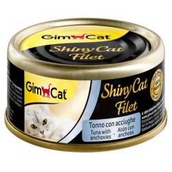 GimCat - GimCat ShinyCat Ton ve Ançuez Kıyılmış Fileto Kedi Konservesi 70 Gr